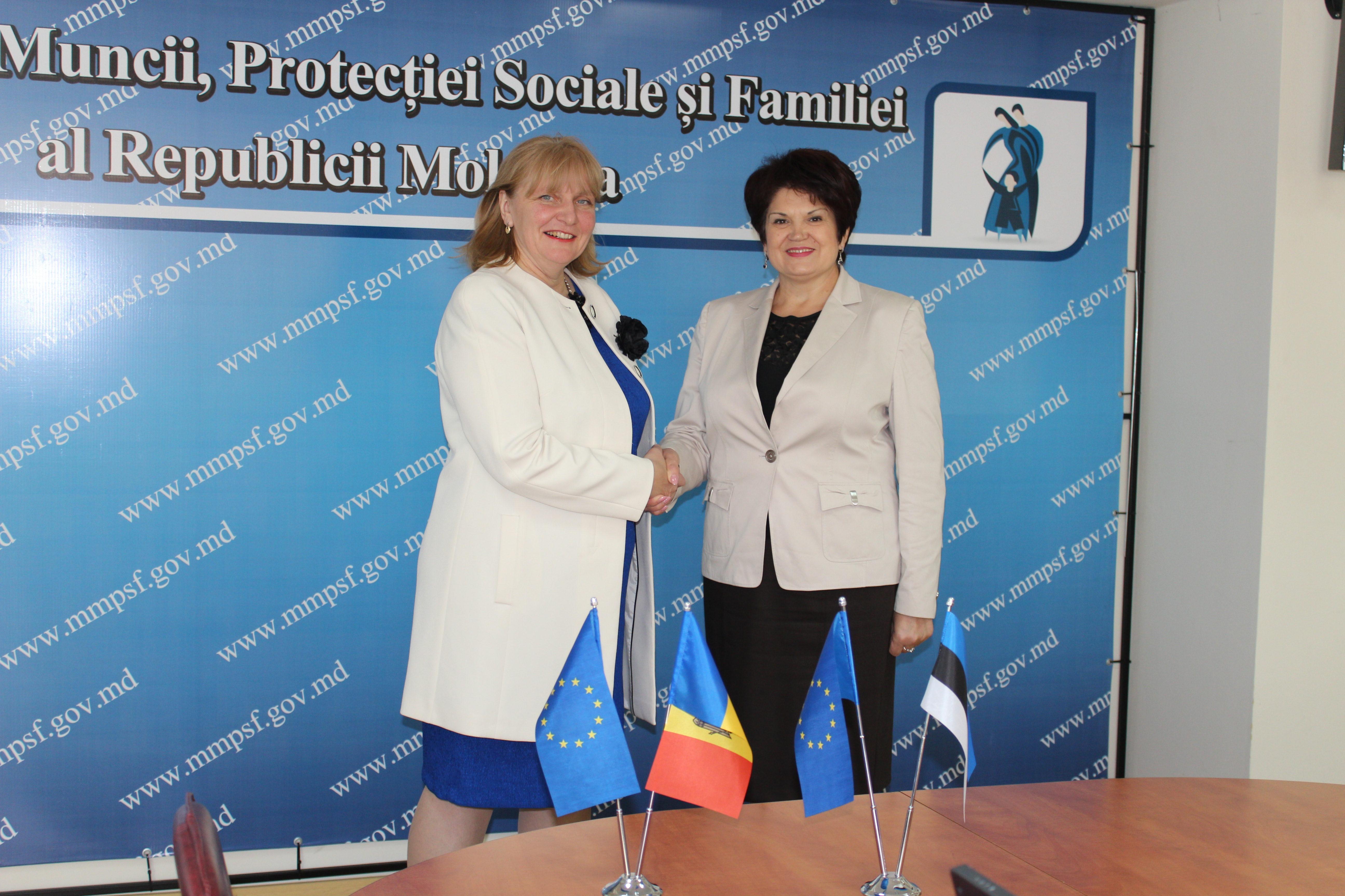 Moldova și Estonia vor colabora în domeniul protecției sociale