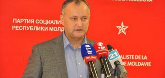 Dodon: Comuniștii din jurul lui Voronin votează comod pentru guvernare