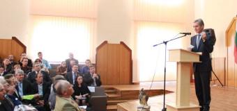 Iurie Leancă a vorbit în limba bulgară la Universitatea din Taraclia