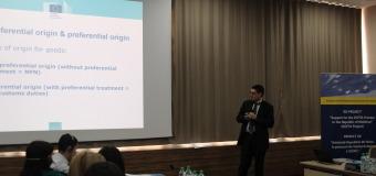 La Chișinău s-a desfăşurat Seminarul regional privind regulile de origine preferențiale la export