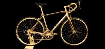 Bicicleta din aur, mai scumpă decât o mașină de lux