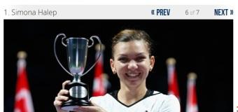 Simona Halep desemnată CEA MAI BUNĂ tânără jucătoare de tenis din 2014 de presa străină