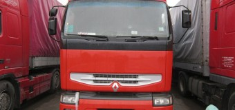 Camion înregistrat în străinătate, depistat cu caroseria modificată //FOTO