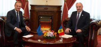 Nicolae Timofti: Donald Tusk este un puternic sprijinitor al țării noastre