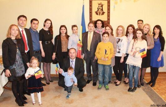 Moldovenii din Azerbaidjan au consemnat Ziua Drapelului