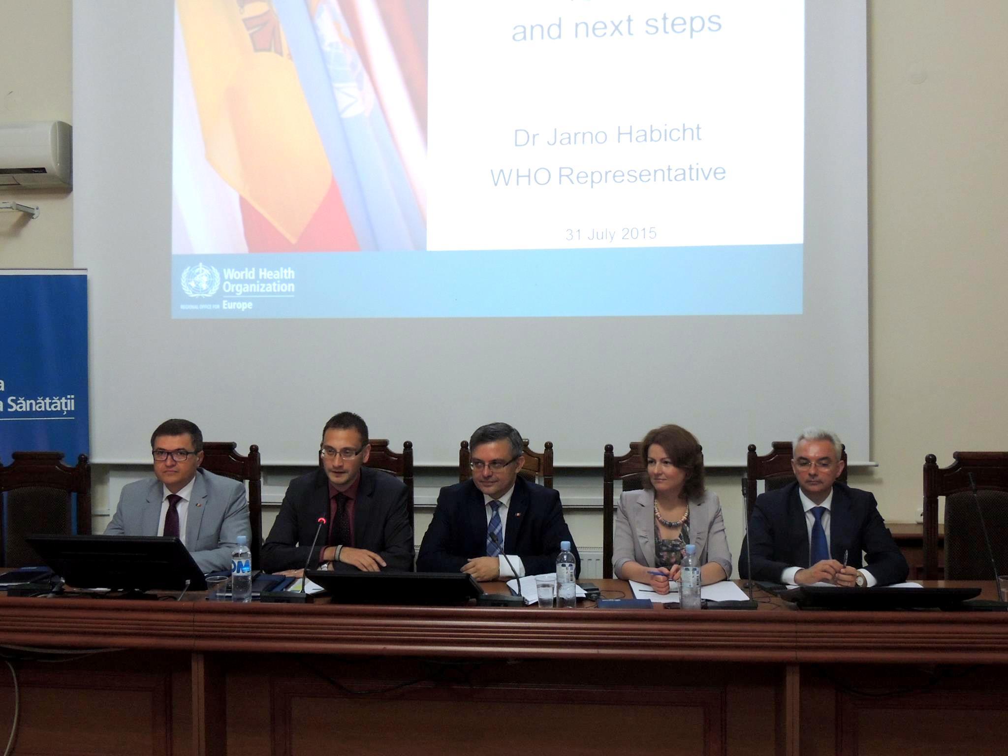 Organizaţia Mondială a Sănătăţii şi Republica Moldova au stabilit noi priorități