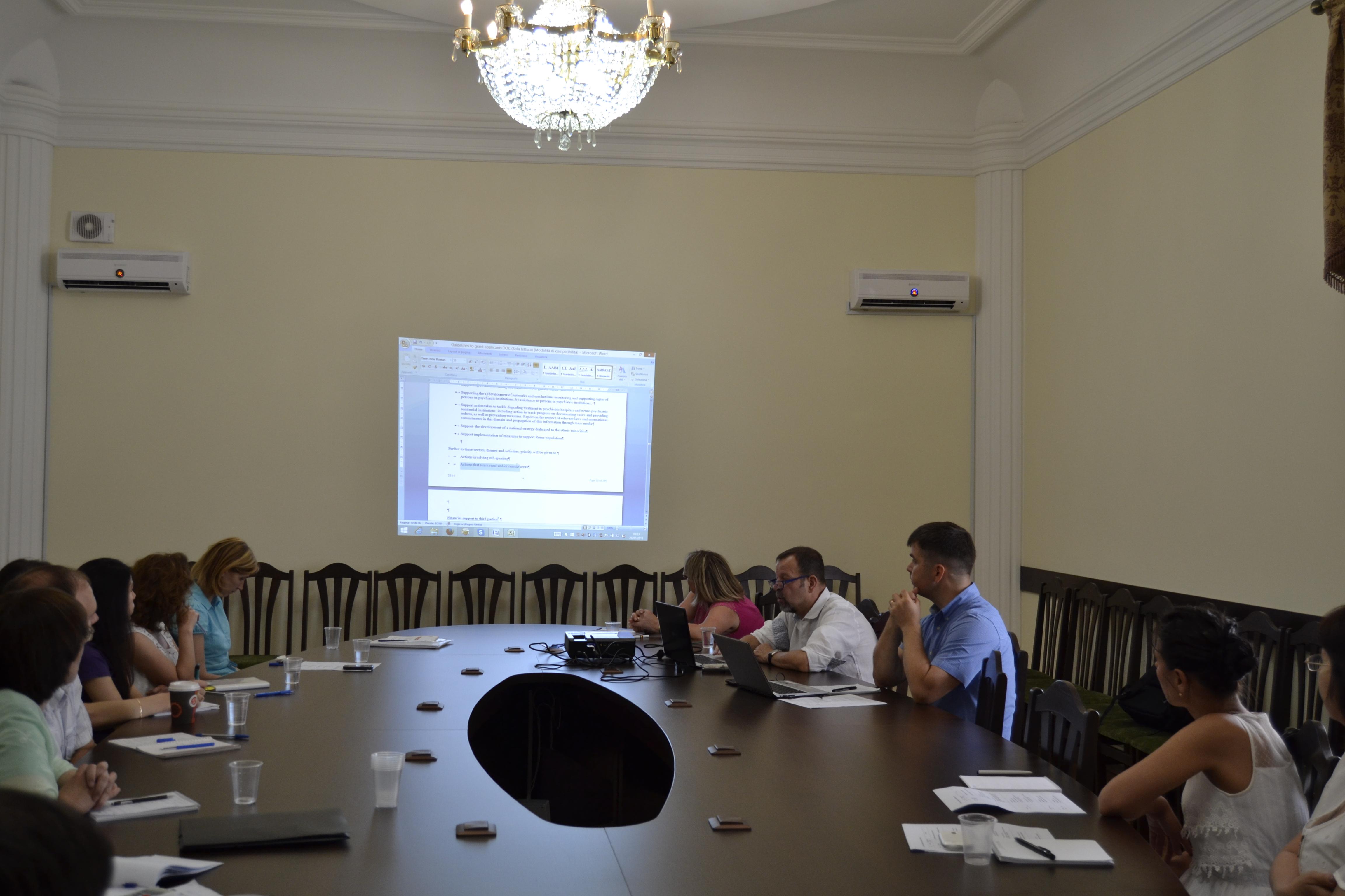 """Ministerul Culturii a desfășurat un trainning privind managementul instituțional și cel al ciclului de proiect"""""""