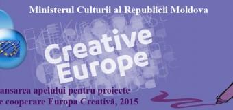Ministerul Culturii anunță despre lansarea apelului pentru proiecte de cooperare Europa Creativă