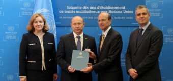 Oficial! Republica Moldova a devenit stat parte a Tratatului privind Comerțul cu Arme