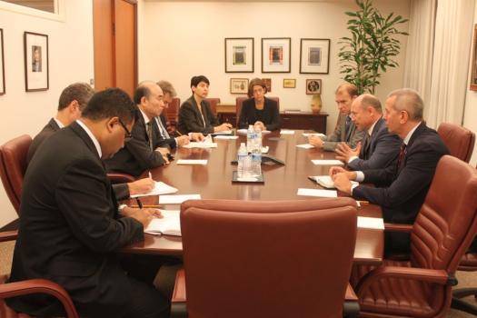 Streleț s-a întâlnit cu directorul adjunct al FMI, al Washington