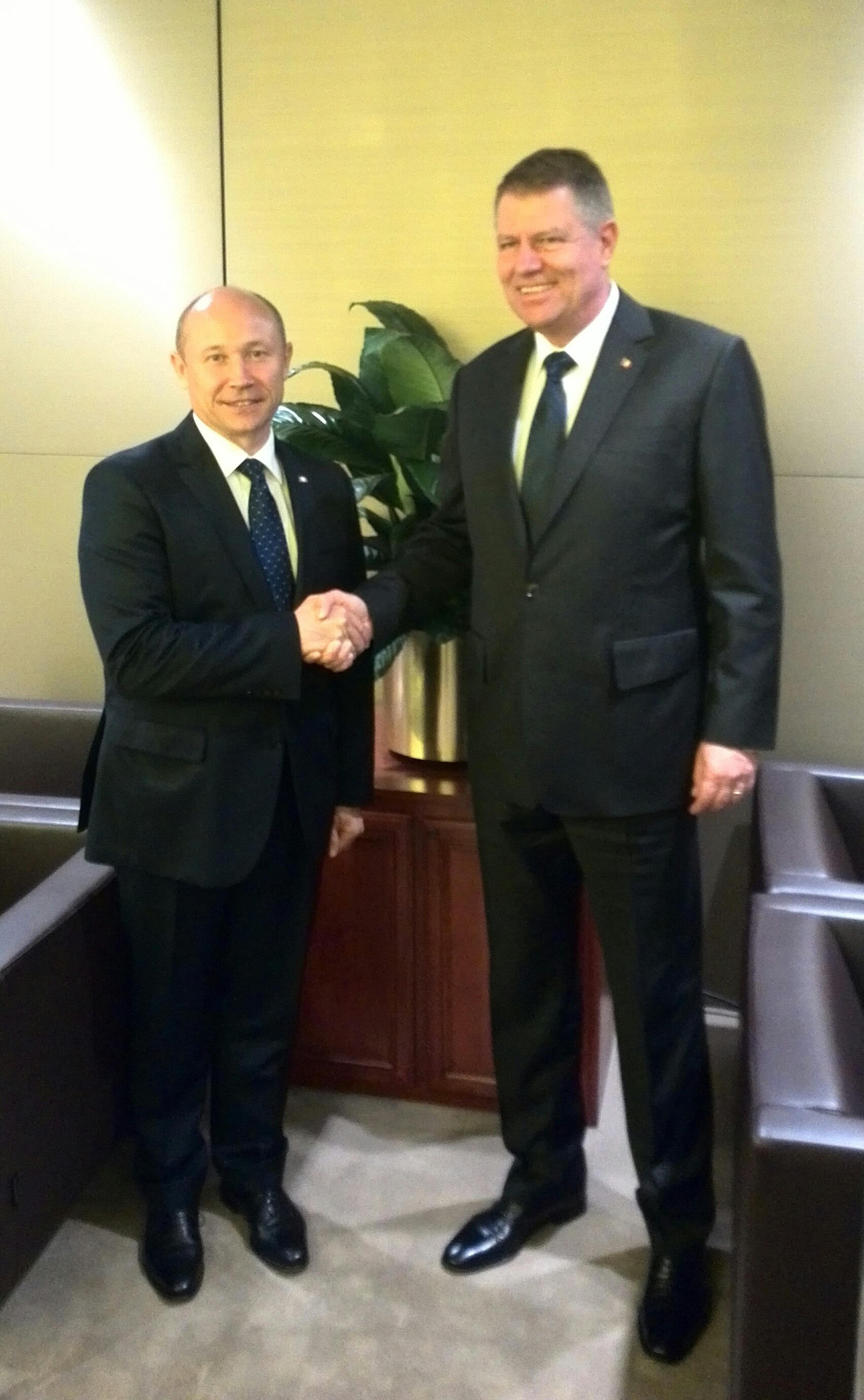 Valeriu Streleț și  Klaus Iohannis au discutat la New York. Iată ce subiecte!