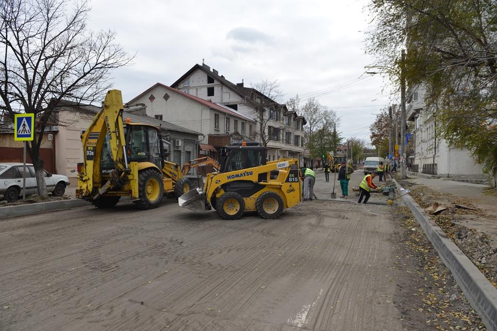 Stadiul lucrărilor de reabilitare a străzii Vasile Alecsandri