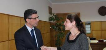 Ludmila Ababii, studentă cu deficiențe de vedere – o zi la Ministerul Economiei
