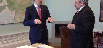 Ministrul Galbur i-a înmânat premierului estonian un mesaj din partea premierului Pavel Filip