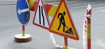 Trafic rutier suspendat parţial pe str. Miorița. Vezi până la ce oră