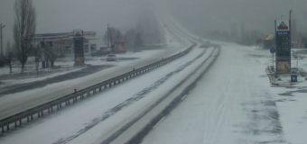 MTID: S-a luat decizia ca traseul Taraclia-Cahul, porțiunea dintre localitățile Ciumai-Burlăceni, să fie închisă din cauza ninsorii viscolite