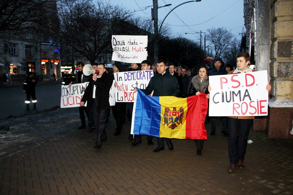 Marșul de solidaritate cu societatea civila protestatara din Romania
