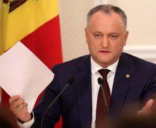 """Igor Dodon, despre legile returnate Parlamentului: """"Situația se va înrăutăți drastic…"""""""
