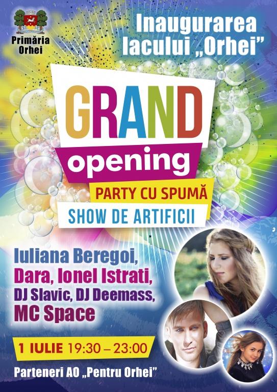 Lacul și plaja din Orhei – pregătite de grand opening: party cu spumă, mega concert și show de artificii