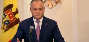 Igor Dodon: În calitate de președinte, voi respinge categoric inițiativa de a permite cetățenie străină pentru lucrătorii din securitatea națională