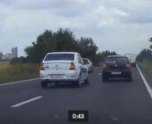 VIDEO. Şoferul care sfidează moartea. Cum a fost surprins în trafic