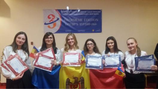 O medalie de aur și două de bronz pentru Moldova la Olimpiada Internațională la Limba Franceză