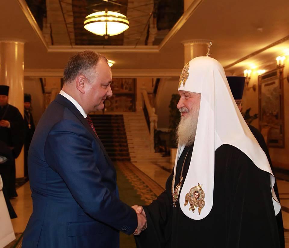 Patriarhul Kiril a acceptat invitația Președintelui Dodon: Va veni la Chișinău în 2018