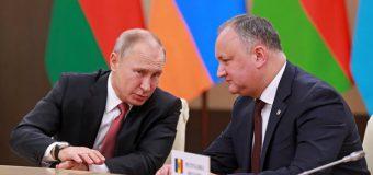 Ce a discutat Igor Dodon cu Vladimir Putin
