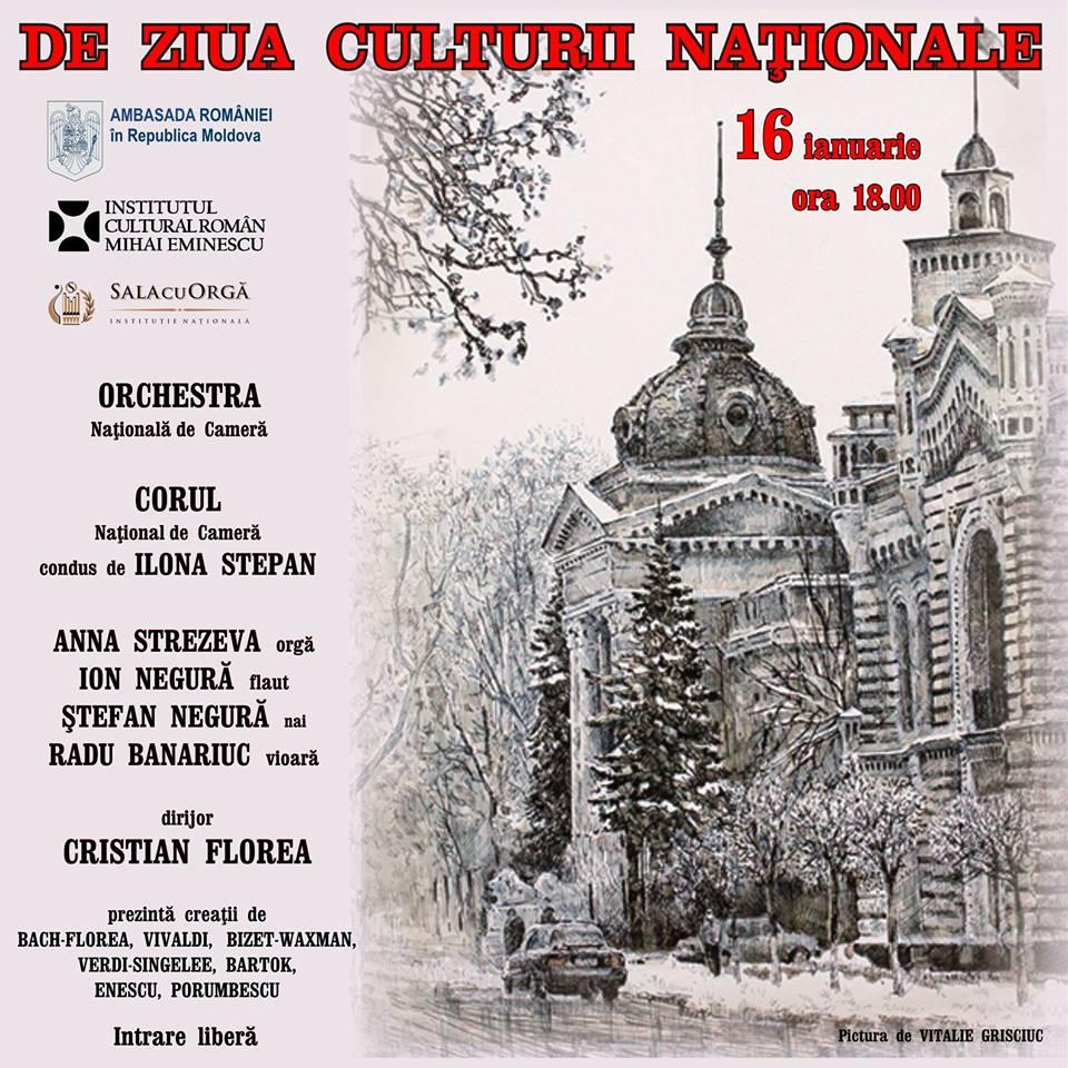 Manifestări dedicate Zilei Culturii Naționale, la Chișinău
