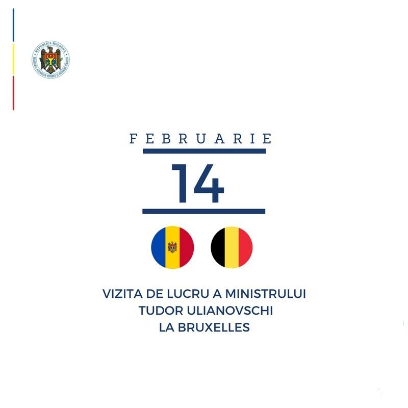 Ministrul Ulianovschi, în vizită de lucru la Bruxelles