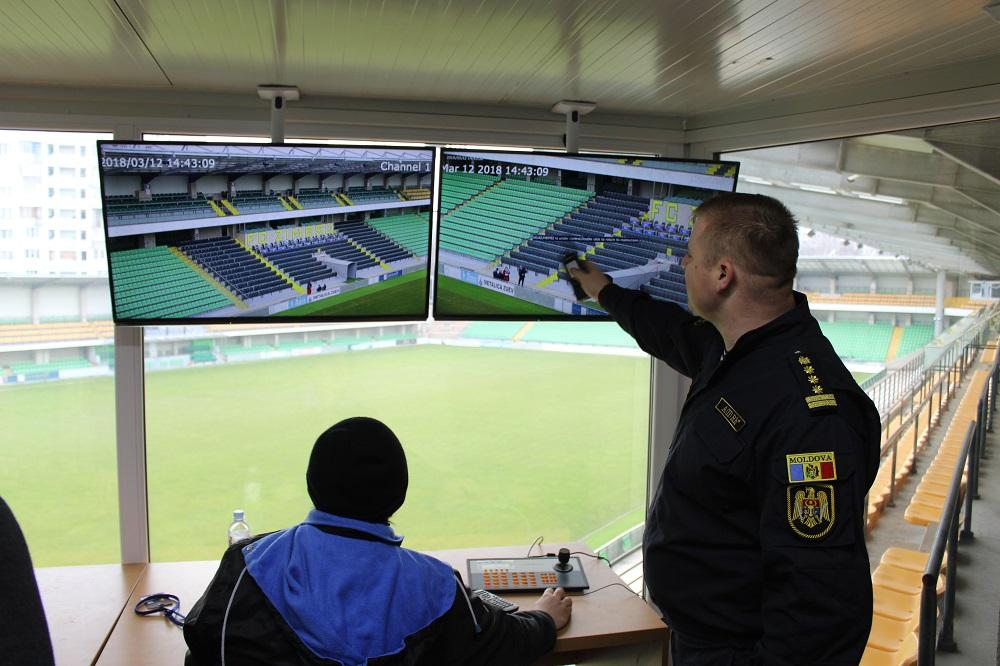 IGP împreună cu Poliția din Republica Polonă și Franceză, pe teritoriul Stadionului Zimbru