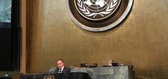 Andrian Candu, la tribuna ONU: Republica Moldova este angajată în promovarea și asigurarea siguranței rutiere