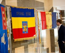 Expoziție de drapele istorice la Parlament (foto)