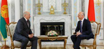 Președintele R. Belarus, întâmpinat de Premierul RM la Guvern
