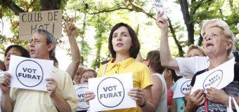 Protest în Chișinău! Oamenii – împotriva nevalidării alegerilor (VIDEO)