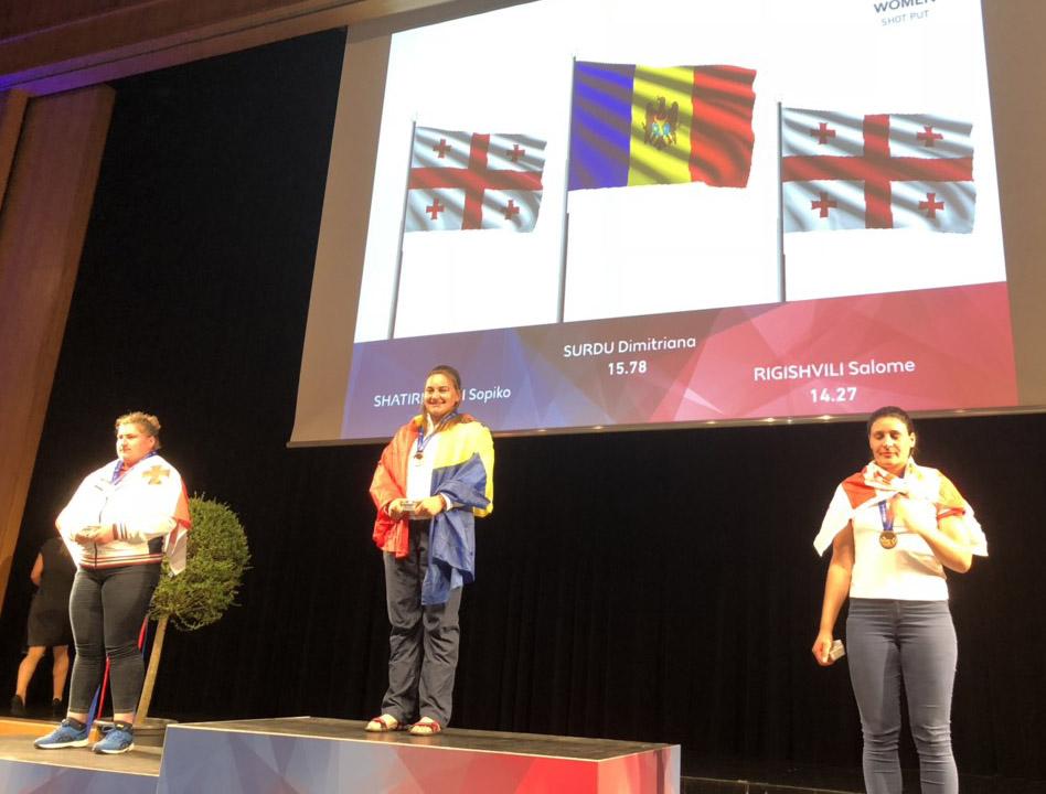 O moldoveancă – campioană la aruncarea greutăţii