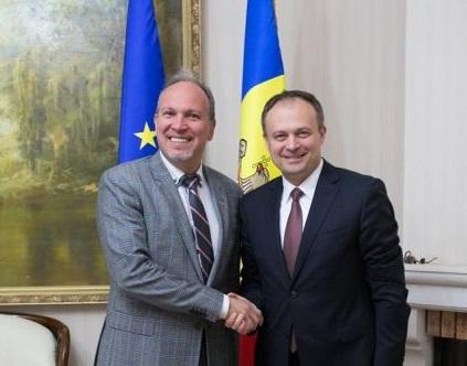 Andrian Candu a avut o întrevedere cu Ambasadorul României, Daniel Ioniță