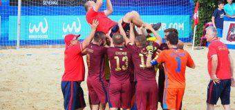 Victorie pentru naţionala Moldovei de fotbal pe plajă