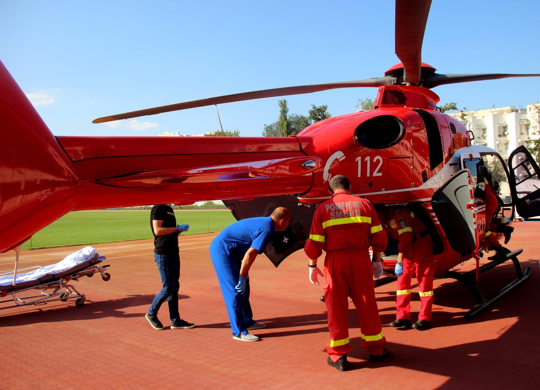 Un echipaj aero-medical SMURD din Iași – într-o misiune de urgență în R. Moldova