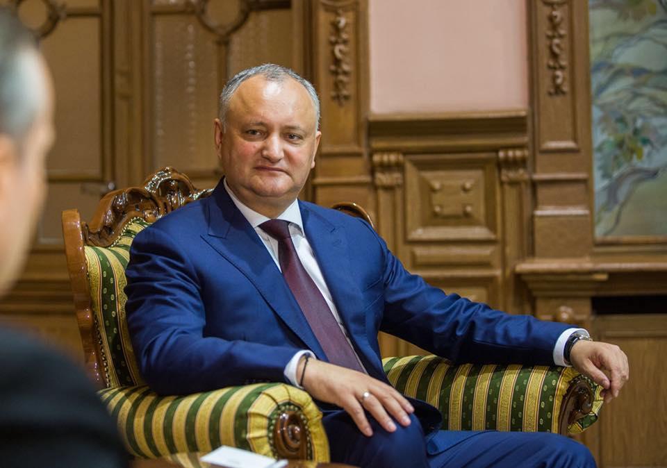 Președintele Dodon: Oponenții mei politici își trădează emoțiile