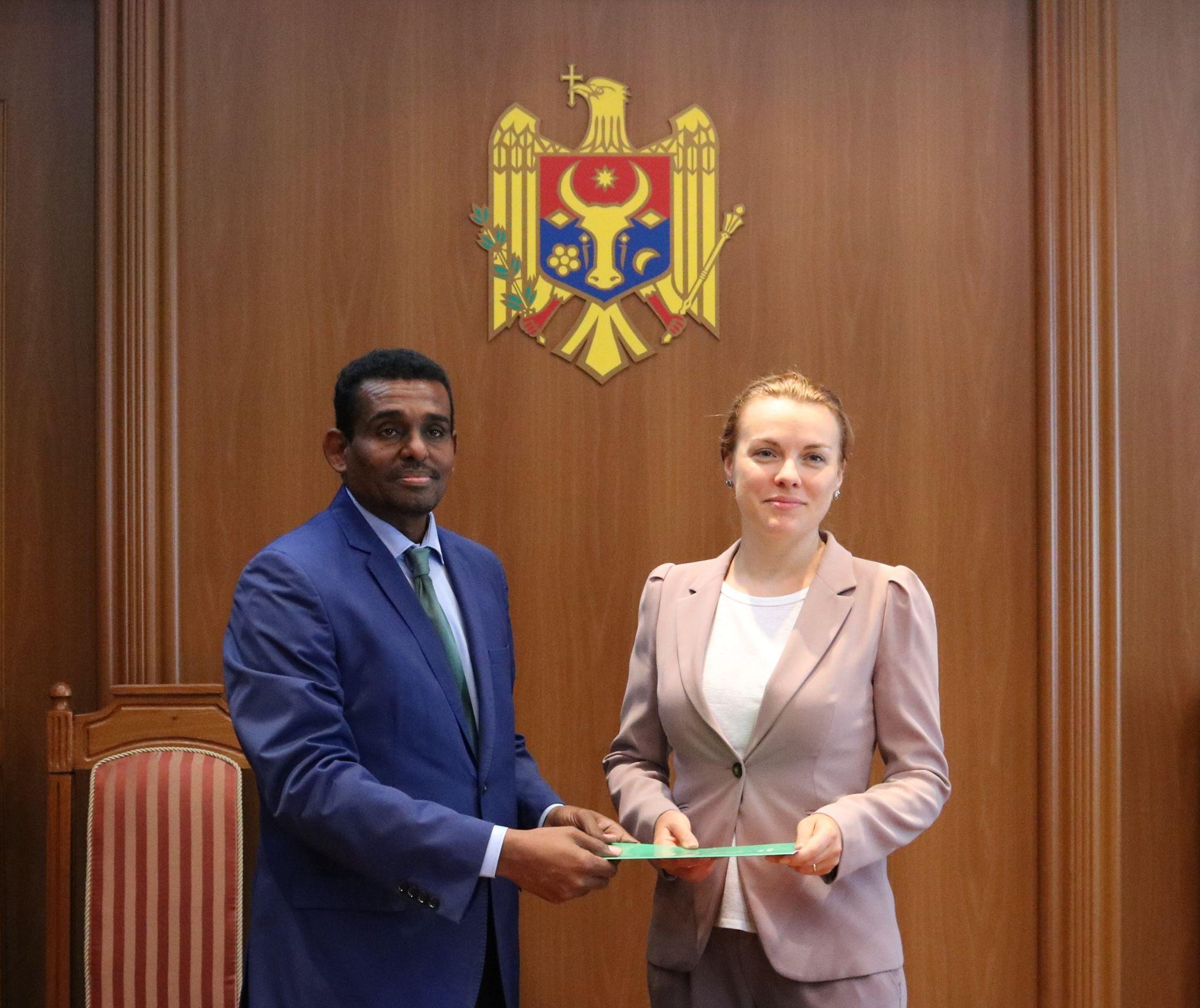 Ambasadorul agreat al Sudanului în Republica Moldova a prezentat copiile scrisorilor de acreditare