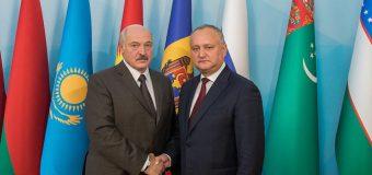Igor Dodon, la întrevedere cu Preşedintele Republicii Belarus