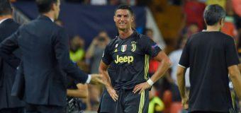 Coşmar pentru Ronaldo! A încasat primul roşu din carieră în Champions League