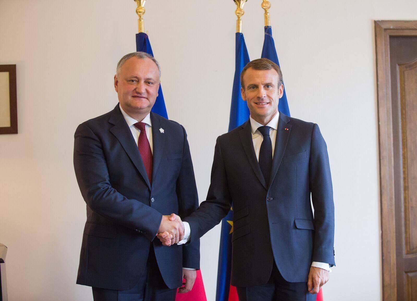 Ce au discutat Președintele Republicii Moldova cu Președintele Franței