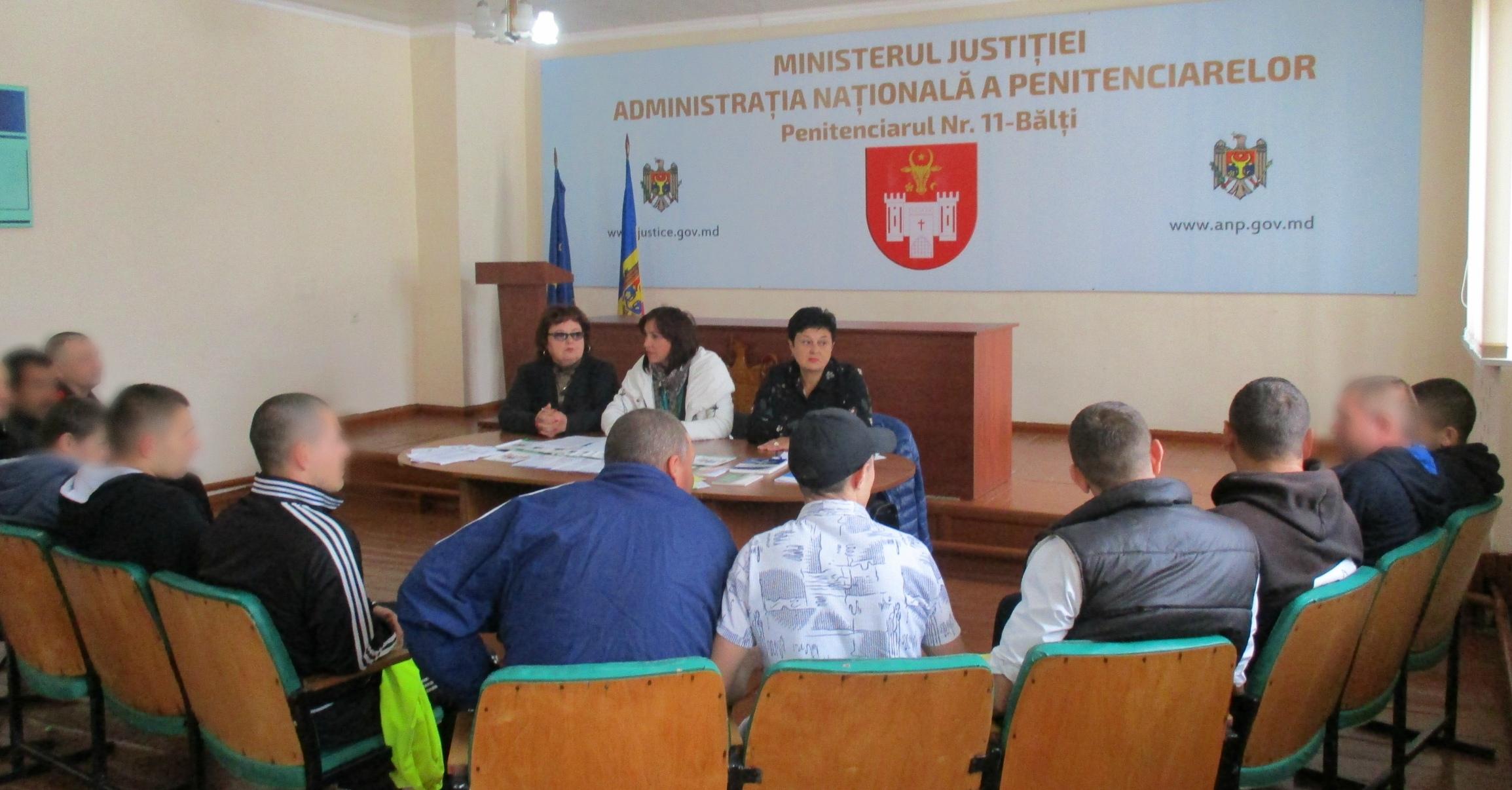 Deţinuţii din R. Moldova – informaţi cu referire la angajarea în câmpul muncii după eliberare
