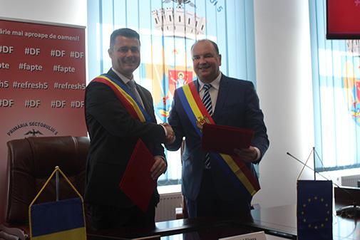 Acord de înfrățire între municpiul Ungheni și Sectorul 5 al municipiului București