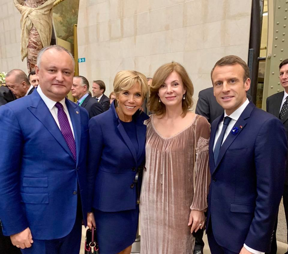 (FOTO) Igor Dodon în Franța a avut mai multe întrevederi cu mai mulți șefi de state și guverne