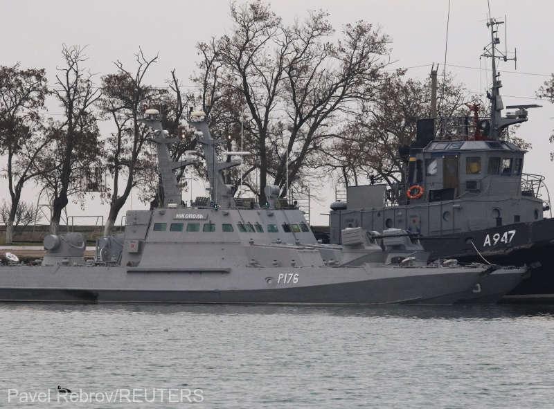 Ucraina acuză Rusia că a capturat trei dintre navele sale în Marea Neagră