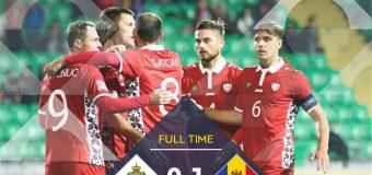 Victorie pentru Naționala Moldovei, în Liga Națiunilor UEFA