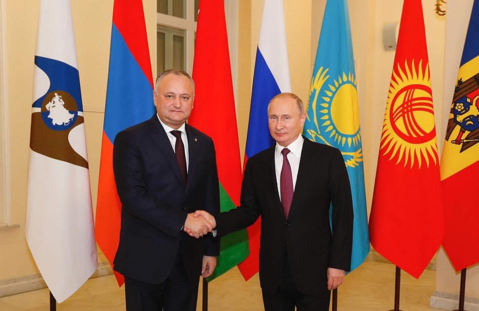 Președintele Dodon: Noi suntem interesați de atingerea unui nivel mult mai înalt al cooperării cu statele din UEE